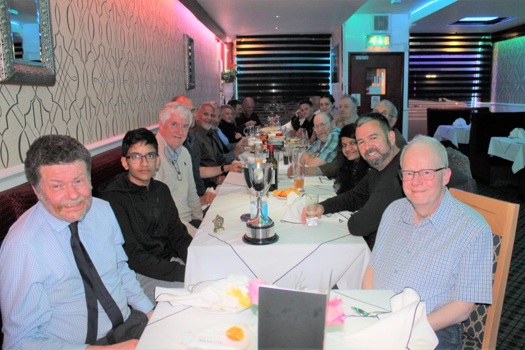 The 2019 end of season curry at Sunrise Balti, Chandlers Ford