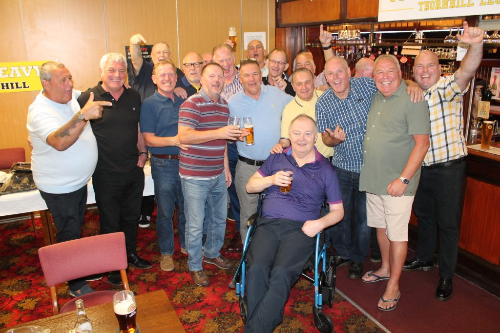 Steve Dunleavy celebrates his 60th