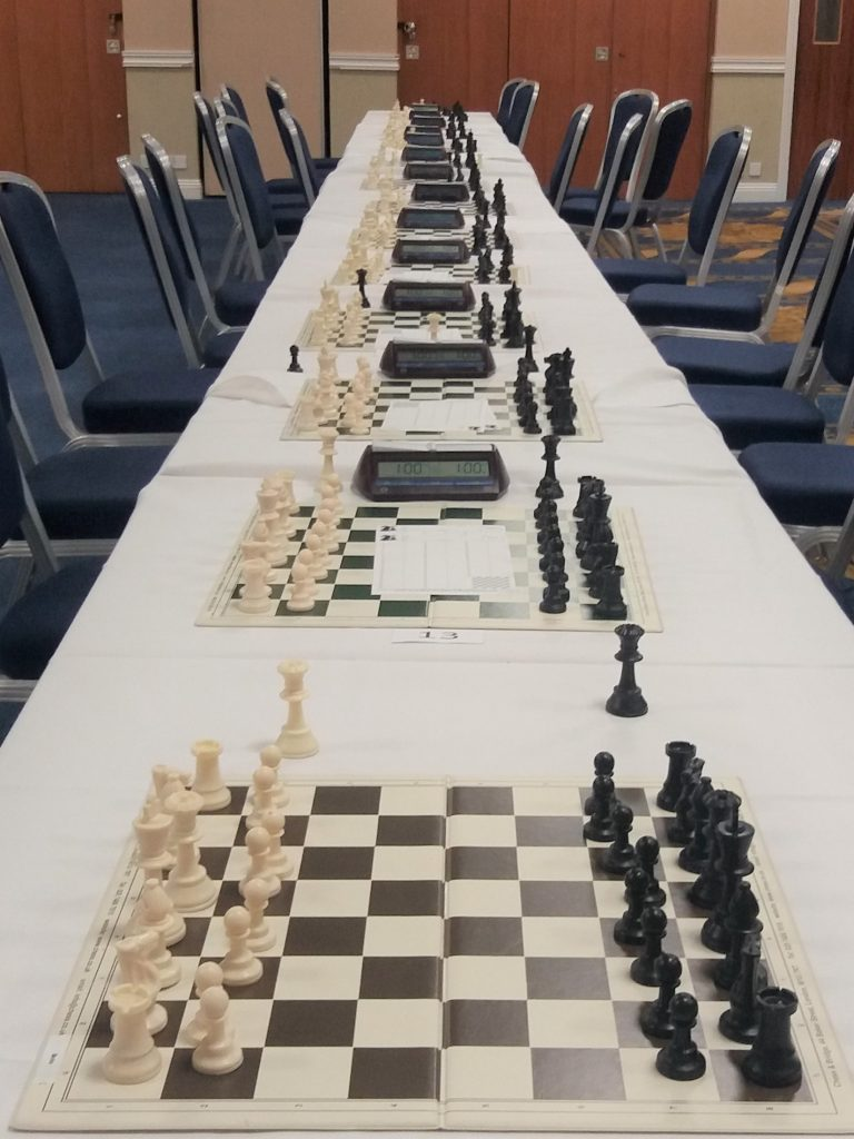 Line of chess sets
