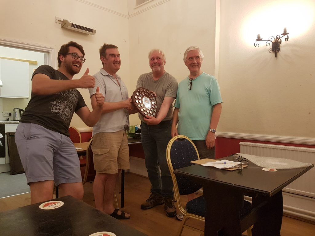 Keith Bateman Memorial Trophy being presented to Chandlers Ford July 2019