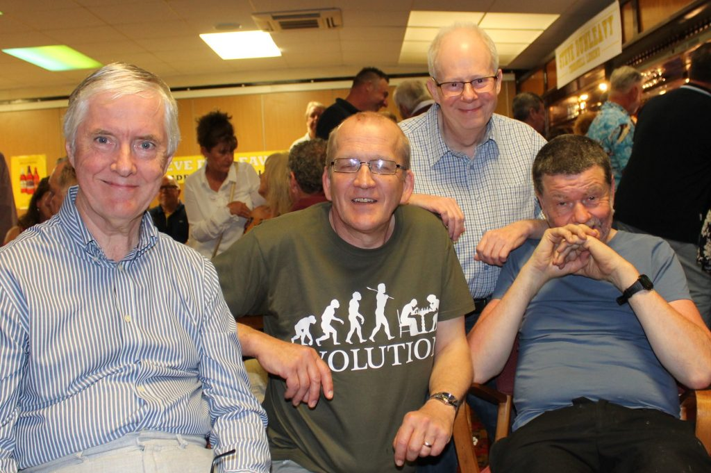 Sam Murphy, Simon Kay, Kev Lamb, Malcolm Clarke at Steve Dunleavy's 60th birthday party