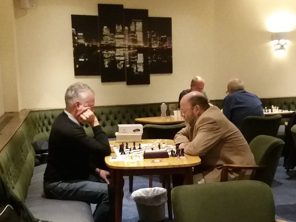 Phil Overton and Peter Przybycin in Round 4 of the Summer Tournament 2019