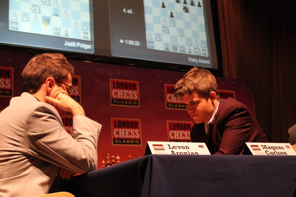 Levon Aronian vs Magnus Carlsen, London Classic 2012