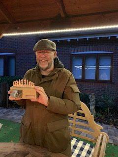 Peter Przybycin receives Knockout Trophy, 2020