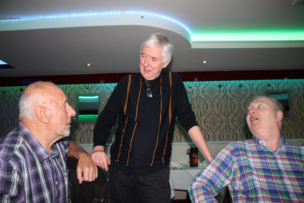 Nobby George, Sam Murphy and Steve Dunleavy at the Christmas Curry 2019