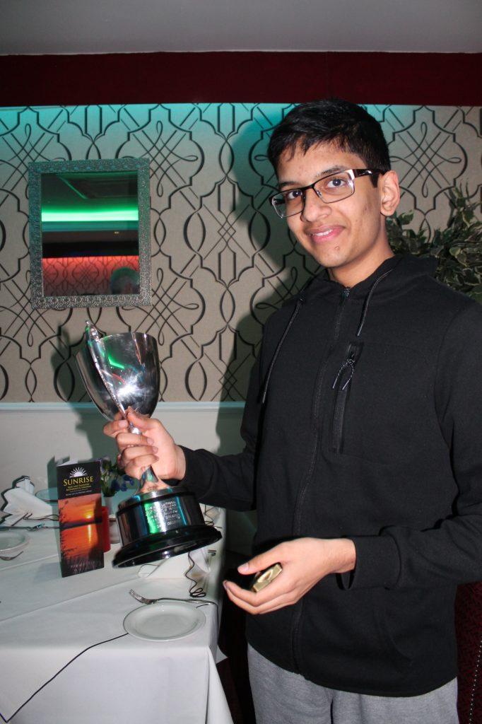 Manoj Chandar, joint winner of the Kooner Cup 2018