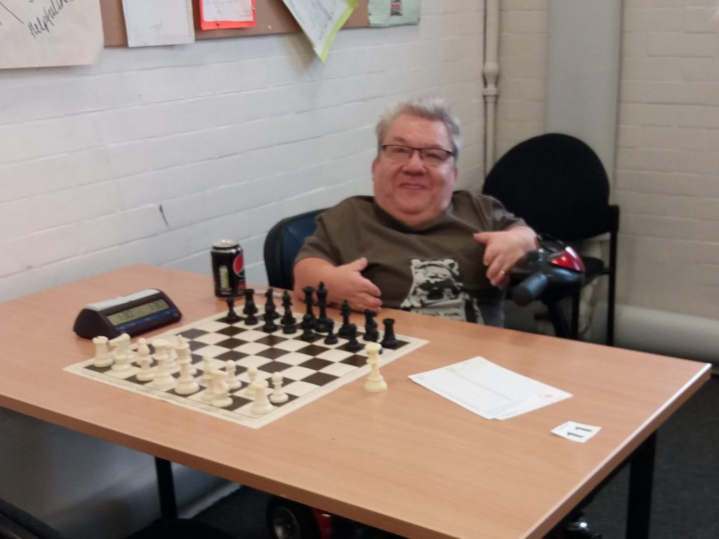 Mike Henbury at Southend Easter Chess Congress 2018