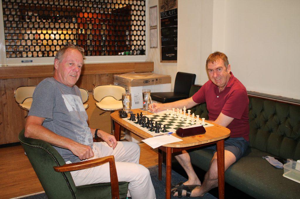 Rob Sims (left) v David Culliford in Summer Tournament 2021 Round 4