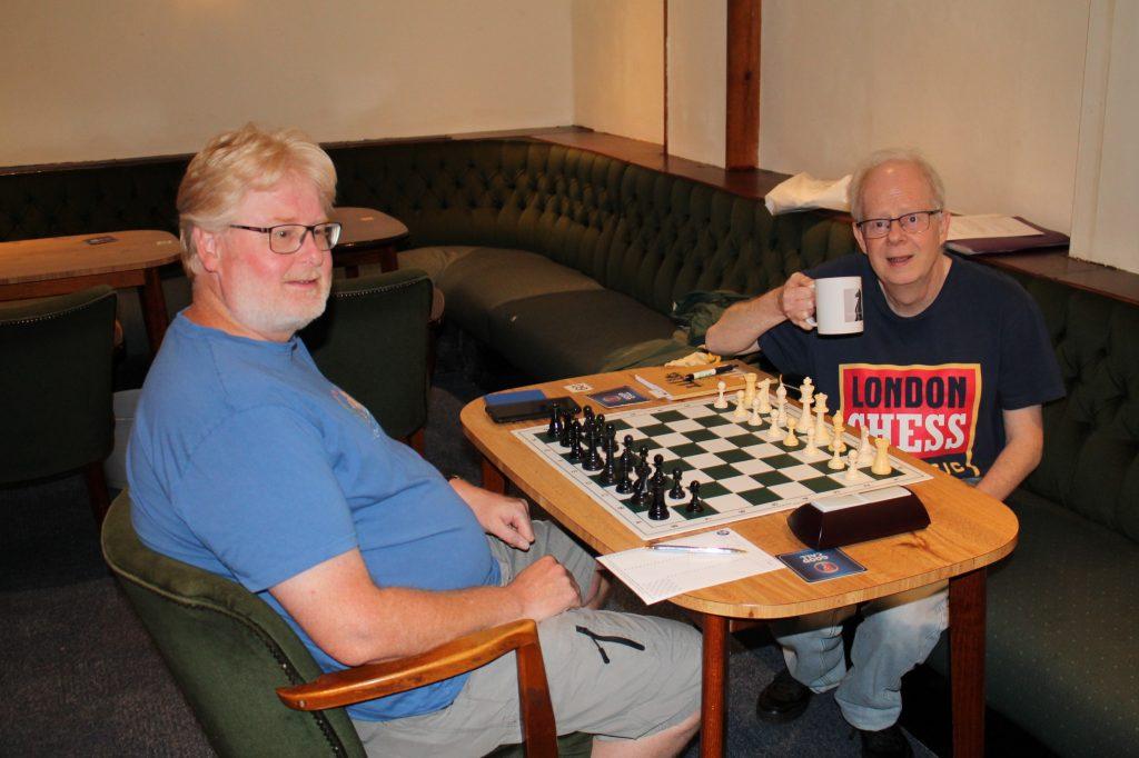Graham Stuart (left) v Keven Lamb in Summer Tournament 2021 Round 4