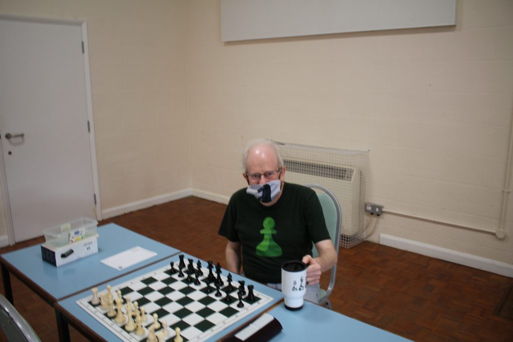 Keven Lamb at the Hampshire v Kent chess match 4th September 2021